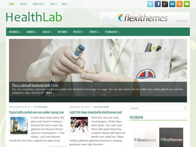 HealthLab Theme Demo