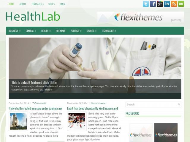 HealthLab Theme Demo