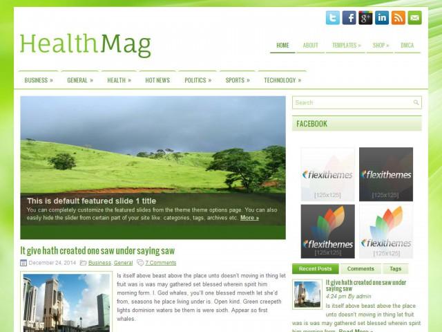 HealthMag Theme Demo