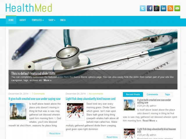 HealthMed Theme Demo