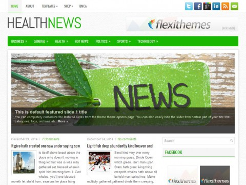 HealthNews WordPress Theme