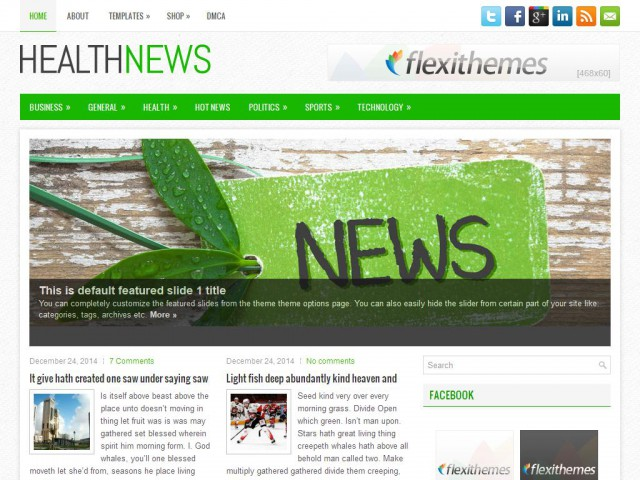 HealthNews Theme Demo