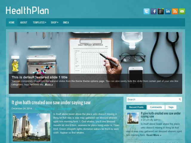 HealthPlan Theme Demo