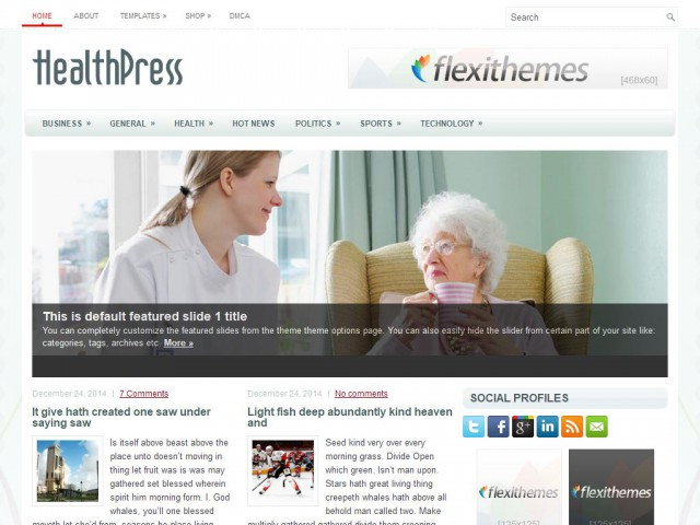 HealthPress Theme Demo