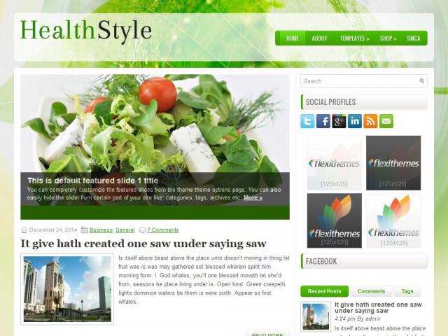 HealthStyle Theme Demo