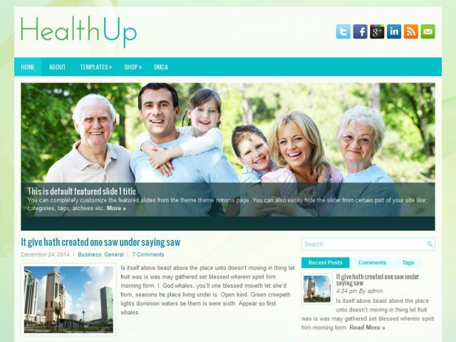 HealthUp Theme Demo