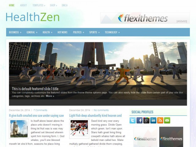 HealthZen Theme Demo