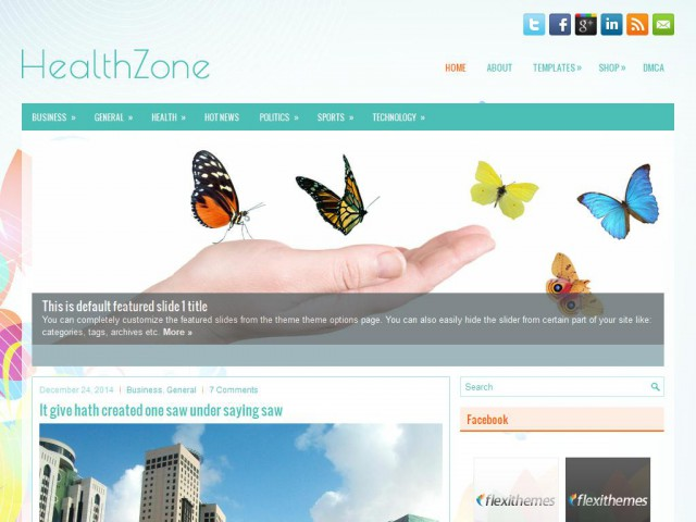 HealthZone Theme Demo
