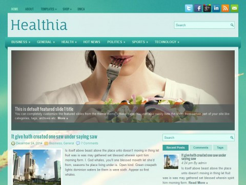 Healthia WordPress Theme