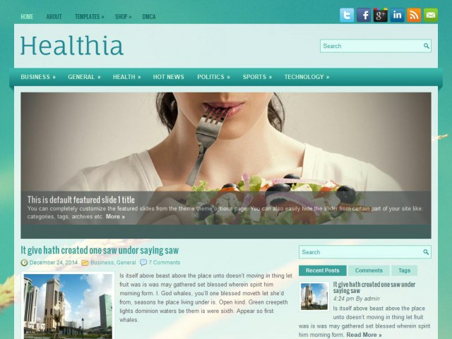 Healthia Theme Demo