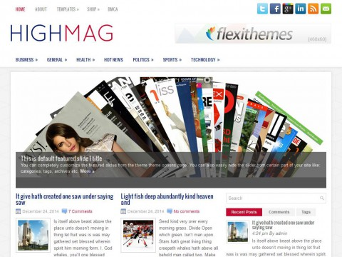 HighMag WordPress Theme