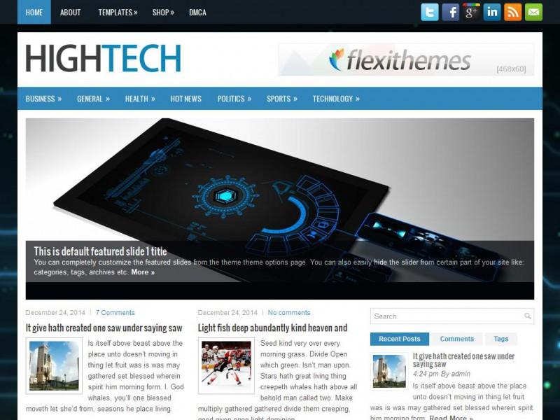 hightech technology wordpress theme reponsive seo friendly