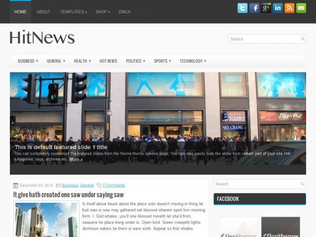 HitNews Theme Demo