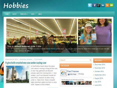 Hobbies WordPress Theme