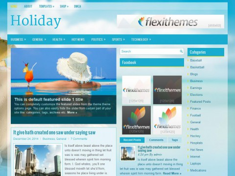 Holiday WordPress Theme