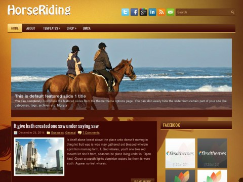 HorseRiding WordPress Theme