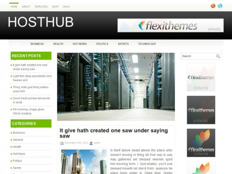 HostHub WordPress Theme