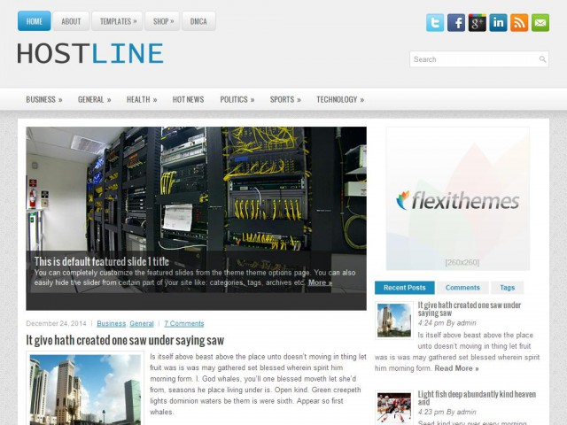 HostLine Theme Demo