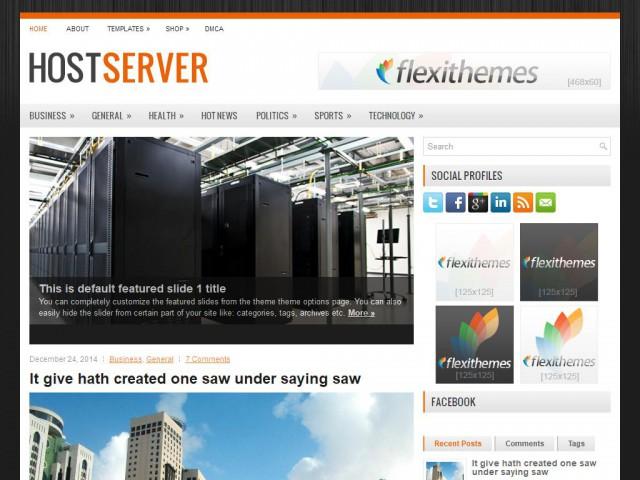 HostServer Theme Demo