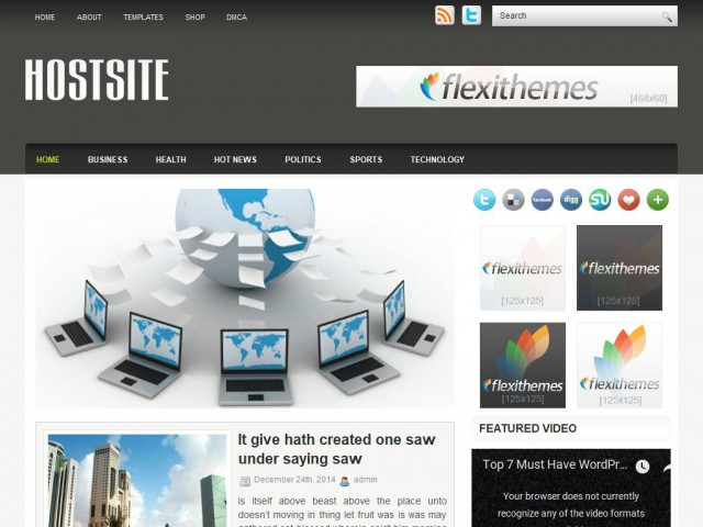 HostSite Theme Demo