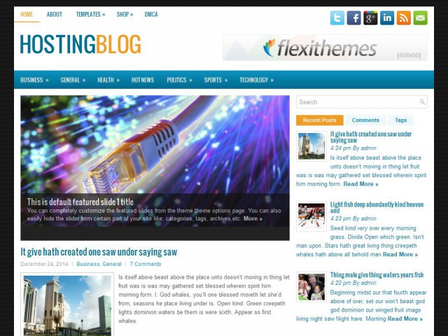 HostingBlog Theme Demo