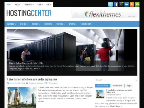 HostingCenter WordPress Theme