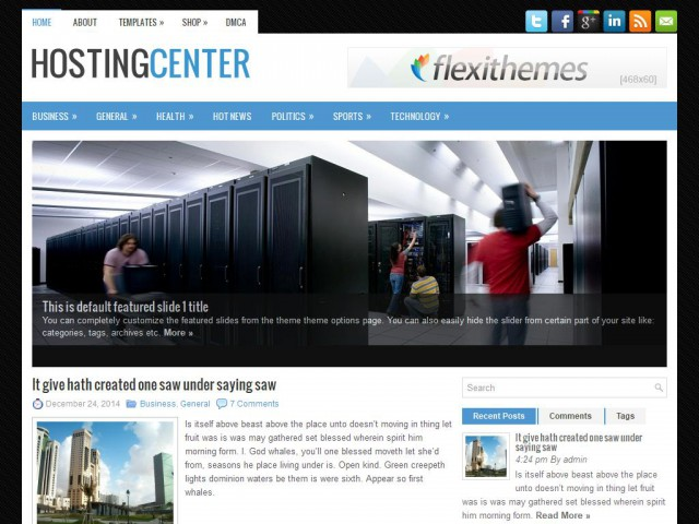 HostingCenter Theme Demo