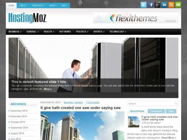 HostingMoz Theme Demo