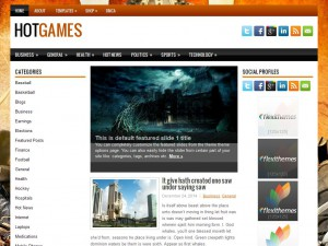 HotGames WordPress Theme
