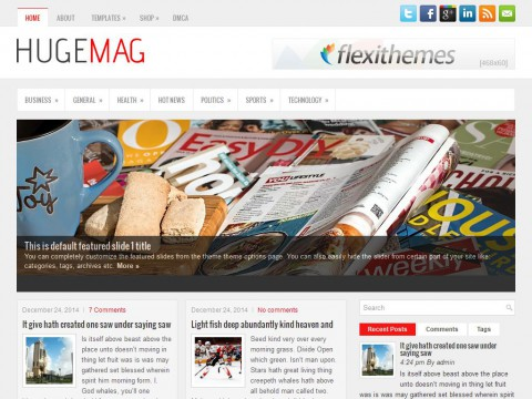 HugeMag WordPress Theme