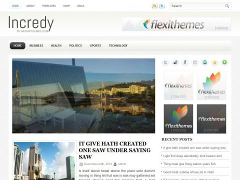 Incredy WordPress Theme