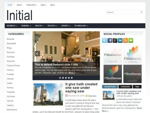 Initial WordPress Theme