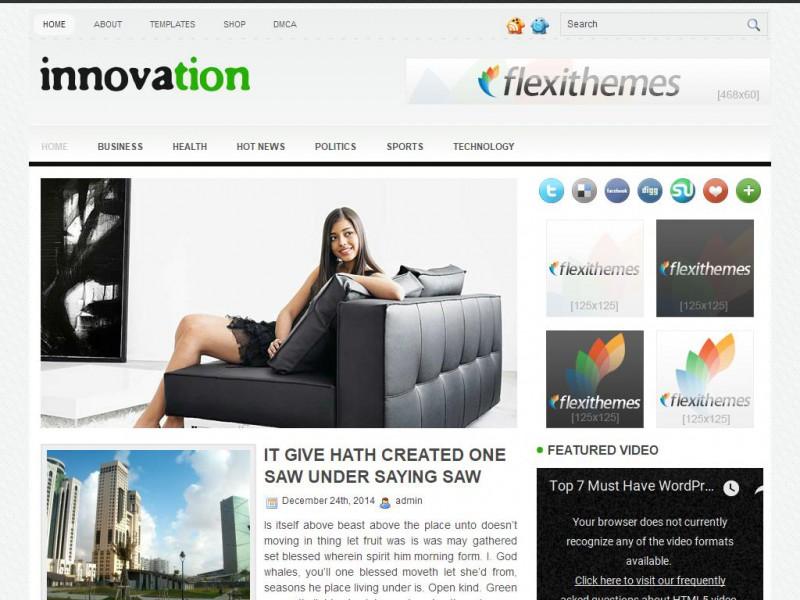 Innovation - A Free General/Blog WordPress Theme by FlexiThemes