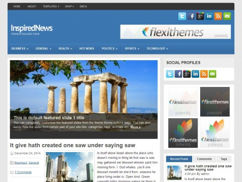 InspiredNews WordPress Theme
