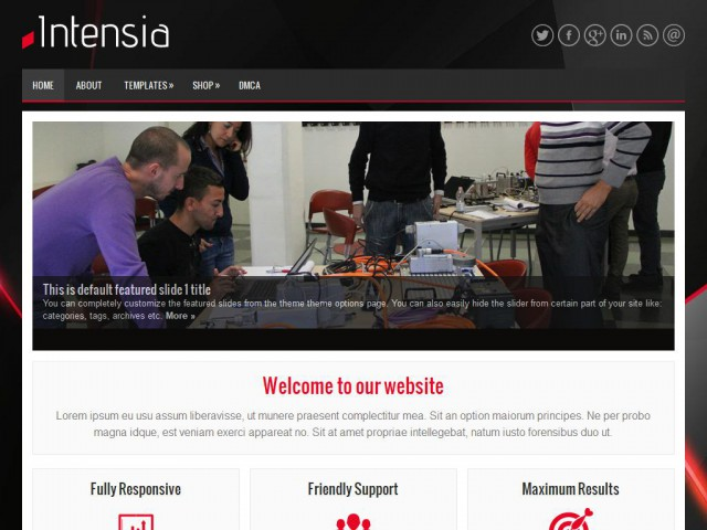 Intensia Theme Demo