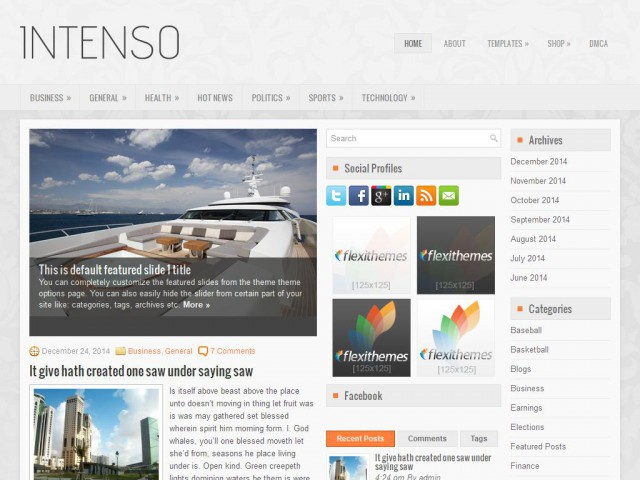 Intenso Theme Demo