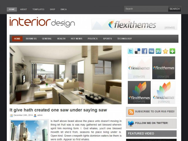 Interior Design Theme Demo