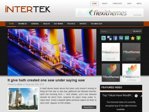 Intertek WordPress Theme