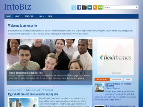IntoBiz WordPress Theme