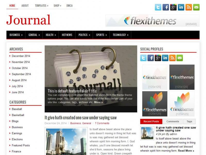 Journal - News/Magazine WordPress Theme For 2019