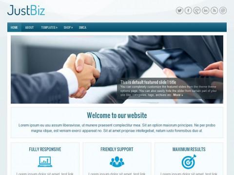 JustBiz WordPress Theme