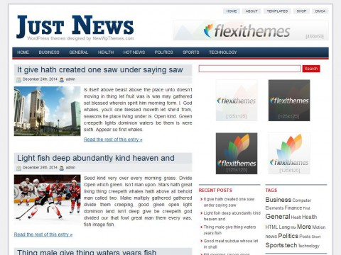 Just News WordPress Theme
