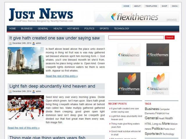 Just News Theme Demo