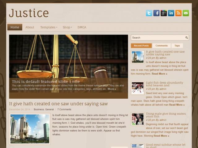 Justice Theme Demo