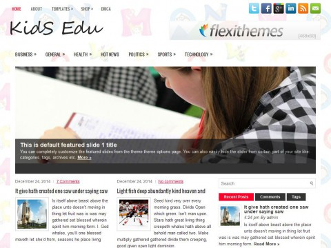 KidsEdu WordPress Theme