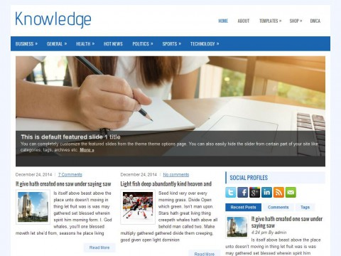 Knowledge WordPress Theme