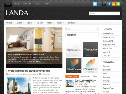 Landa WordPress Theme