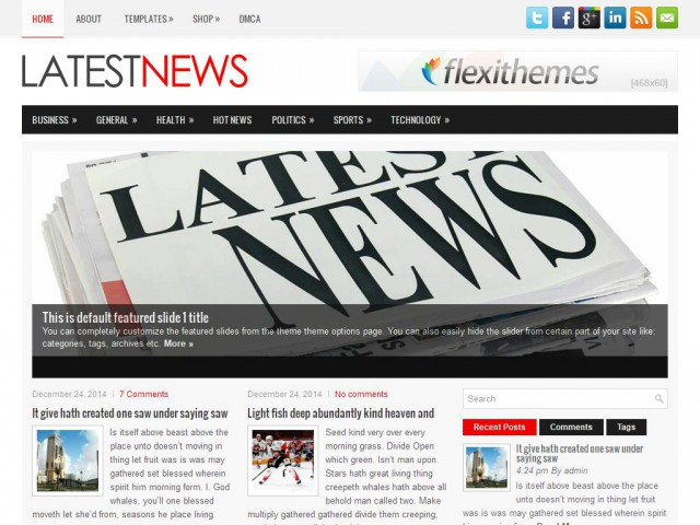 LatestNews Theme Demo