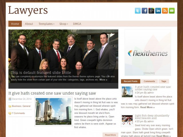 Lawyers Theme Demo