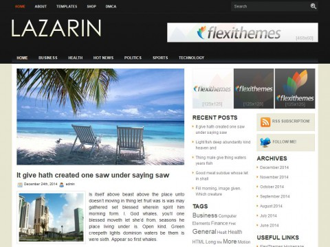 Lazarin WordPress Theme
